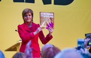 Nicola at the Manifesto Launch – photo Mark English